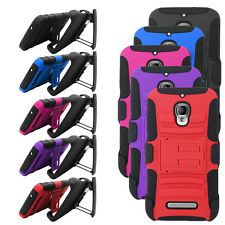 Armor Shield Holster Clip Cover Case For Alcatel One Touch Fierce 7024W