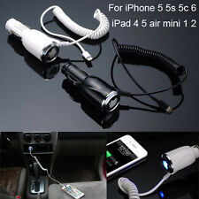 5V/2A Traval Fast Charge Lightning Car charger adapter For iPhone5 5s 5c 6 6plus