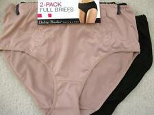 NWT DELTA BURKE Plus Size Set of Two (2) Embroidered Hi Waist Briefs