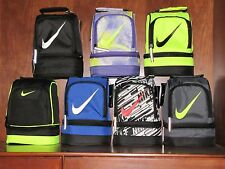 NIKE Dome Lunch Box Tote Black/White/Red,Volt/Black, Black/Blue,Black/White