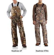 Carhartt Work Camo AP Bib Overalls Sandstone Insulated Men's R54 $150 All Sizes