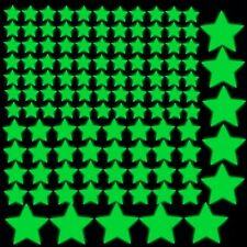 Super Glow in the dark vinyl adhesive stars 119 pcs adhesive stickers