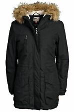 ONLY Damen Winter Jacke LONDON COTTON COAT Parka Mantel Black schwarz Kapuze