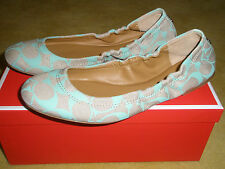 Coach Aly Pigmented Signature Flats Shoes Mint Multiple Sizes