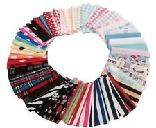 Mixed Pack Bundle Craft Fabric Material Sewing Patchwork Quilting Squares Scrap