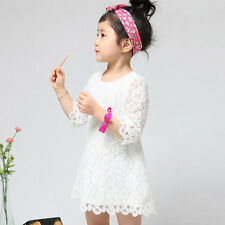 1PC Kids Girls Toddler Baby Lace Princess Party Dresses Child Clothes Cheap