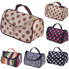 New Women Makeup Cosmetic Case Toiletry Bag Zebra Travel Handbag Organizer pouch
