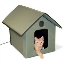 K&H Outdoor Kitty House Waterproof For Cats or Small Dogs Heated or Unheated