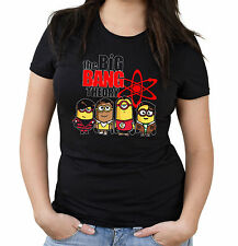Big Bang Minions Girlie Shirt | Theory | Bazinga | Spock | Minion | Sheldon