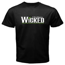 New WICKED Broadway Show Musical Wizard of OZ Men's Black T-shirt Size S to 3XL