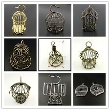 1PCS Vintage Alloy Bird Cage Crafts Charms Jewelry Pendant Findings $1.99-$2.19