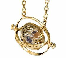 Harry Potter Hermione Granger Rotating Time Turner Hourglass Necklace + Gift Box
