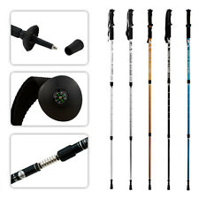 Anti Shock Outdoor Hiking Stick Alpenstock Adjustable Trekking Pole Walking