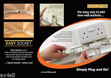Easy Fit DIY Extra Wall Double Sockets No Electrician Needed Looks Fab Saves £££