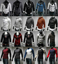 New Autumn Sexy Men's Top Designed Slim Fit Hoodies Coat Jacket Zip Hoodies Tops
