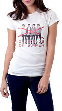 5 Seconds of Summer Short Sleeve Whites T-Shirt, pop punk rock band, 5SOS Tee