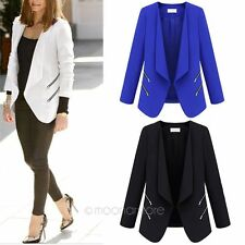 2014 NEW Fashion Women Lady OL career Long Sleeve solid Suit Jacket Coat Party