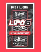 Nutrex Lipo 6 Black Ultra Concentrate 60 ct. DMAA Free **Free Shipping**