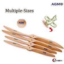 RC Engine Propeller Prop AGM Wood Wooden Prop for RC Model Aeroplane Stock in UK