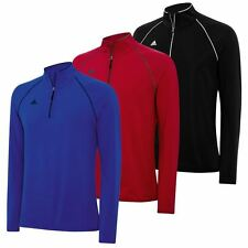 2015 Adidas Puremotion Tour Flex Rib 1/4 Zip Mens Layering Top Golf Pullover