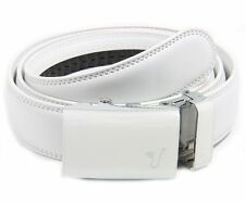 MISSION BELT Adjustable WHITE Ratchet Dress Leather ALPINE Belt from SHARK TANK