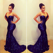 Sexy Womens Long Maxi Mermaid Prom Ball Cocktail Party Dress Formal Evening Gown