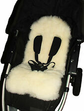 Sheepskin Pram / Pushchair / Stroller Liner for Five-Point Harnesses