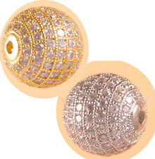 AAA crystal rhinestone pave cz rondelle ball bead spacer Jewelry findings DIY