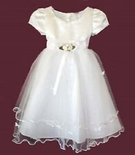 FLOWER GIRLS WEDDING PAGEANT WHITE PARTY  DRESS SIZE 2, 6