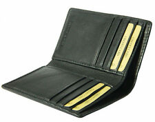 Real Leather Credit Card Holder Case Slim black brown tan Wallet Men Bifold gift