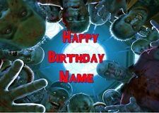 WALKING DEAD ZOMBIES GROUP Edible Cake Topper Frosting Sheet quarter & half size
