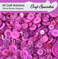 Top Quality  MAGENTA  Buttons / Plastic Buttons / Assorted Buttons