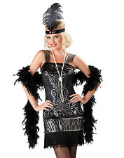 Sexy Flirty Flapper Great Gatsby 20's Style Adult Womens Halloween Costume M-L