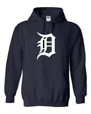 Detroit Tigers Logo Hooded Sweatshirt (Sizes Youth S - Adult  5XL)