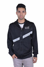 "Emporio Armani EA7 ""Airduct Technology"" Black Hooded Track Jacket Size M L XL"