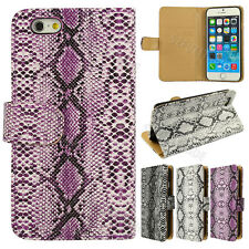 Fashion Snake Skin Wallet Stand Flip Leather Case Cover Skin For iPhone 6 4.7""