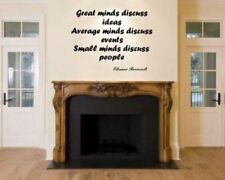 JC Design 'Great minds discuss ideas...' - Motivational Vinyl Wall Sticker