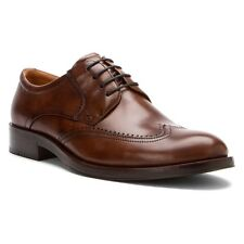 NEW - Men's Ecco Canberra Wing Tip Leather Lace Up Shoes - Teak - 62150457867