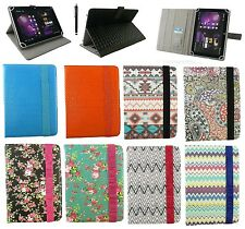 "Universal Wallet Case Cover Stand Folio  for 7"" inch Tablet with Stylus"
