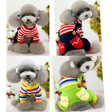 New Fashion Stripe Suspender Pet Dog Cat Clothes Autumn Winter Puppy Costumes