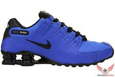 New 2014 Nike Mens Shox NZ Running Shoes Hyper Cobalt Blue/Black All Sizes