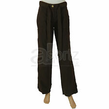 New Ladies Womens Marks & Spencer Brown 100% Cotton Trousers Smart Casual Work