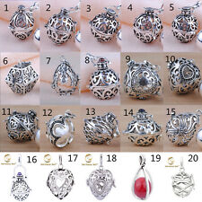 Silver Harmony ball Pendant Mexican Bola Angel Caller Sound Chime Bell Cage+ball