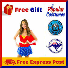 Sexy New Wonder Woman Super Hero Ladies Fancy Dress Halloween Superhero Costume