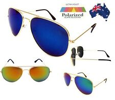 Polarised Aviator Sunglasses - Coloured Revo Mirror Lens - 3 Different Colours