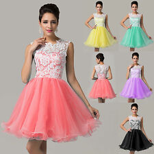 Pretty Girls Short Homecoming Lace Evening Prom Cocktail Party Bridesmaid Dress