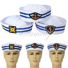 Unisex Yacht Boat Captain Sailor Hat Skipper Navy Marine Cap Costume Party New