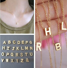 Charm Women Gold plated Letter name Initial Charm chain Pendant Fashion Necklace