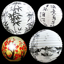 "13"" Paper Lantern Lamp Shade Oriental Light Decoration Home Deco DIY Red Blossom"