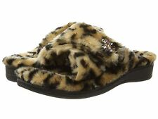NEW - Women's Vionic with Orthaheel Technology RELAX LUXE Slippers - Tan Leopard